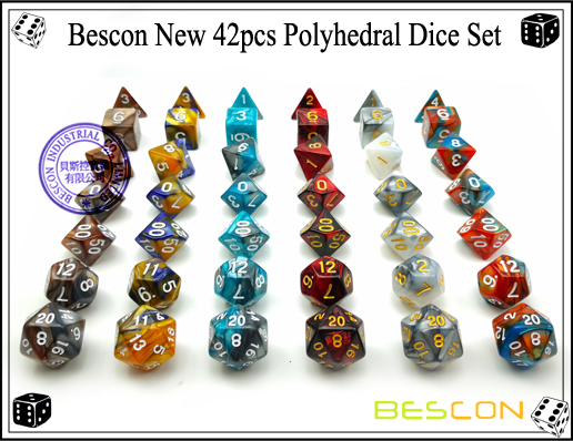 Bescon New 42pcs Polyhedral Dice Set-4