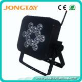 12PCS 3W 3in1 RGB LED Flat Wireless Battery LED PAR Light
