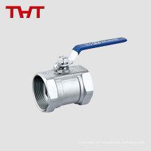 válvula de bola de acero roscada de una pieza para alta presión