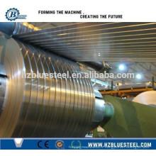 PLC Hydraulic Auto Steel Coil Slitting Line avec rebobineuse / coupe à longueur Machine