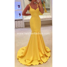 New Red Carpet Yellow Evening Dress Ball Gown