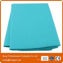 Tissu de tissu non tissé de polyester, serviette de séchage non tissée tout usage de couleur d'orange