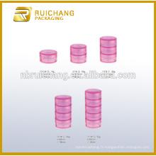 10g / 20g / 30g / 40g / 50g récipient cosmétique en plastique multicouches / pot, crème cosmétique, pot cosmétique, cosmétiques plastiques