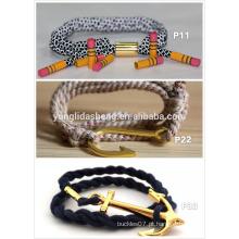Pulseira de moda bracelete de metal trançado