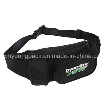 Promotional Black Adjustable Sport Waist Bag