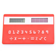 8 Digits Mini Credit Card with Solar Panel