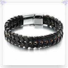 Joyería de moda cuero joyas pulsera de cuero (lb087)