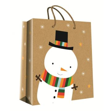 CHRISTMAS SERIES KRAFT GIFTBAG19-0
