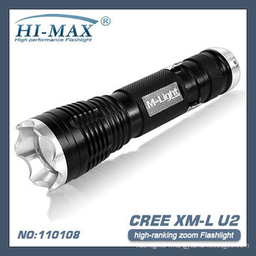 T6 LED zoom super bright flashlight