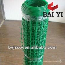 Maille en plastique résistante / tissu en plastique de maille / maille en plastique 10 millimètres