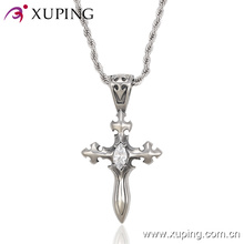 Fashion Cool CZ Cross Sword-Shaped Stainless Steel Jewelry Pendant -Pendant-00004