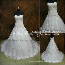 JJ2896 neueste Sleeveless weiße Spitze Hochzeitskleid
