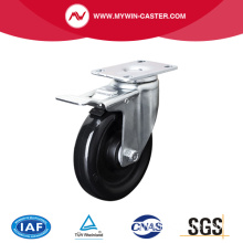 Medium 5 Inch 120 kg Plate Brake PU Caster