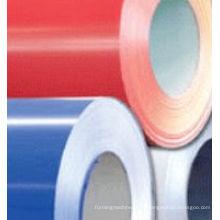 Materiales de construcción o bobinas laminadas de acero de color