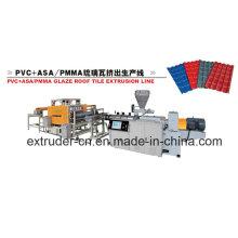 Материал ASA+PVC составная застекленная устройство названия Экструзионная линия, Производство глазированного названия линии