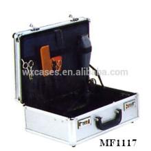 caixa de ferramenta de cabeleireiro de alumínio forte e portátil