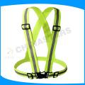 Une taille adaptée à toute la ceinture de sécurité réfléchissante élastique jaune fluorescente