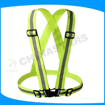 Um tamanho caber todos fluorescente amarelo elástico cinto de segurança reflexivo