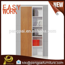 MDF latest design two door filling cabinet/ bookcase