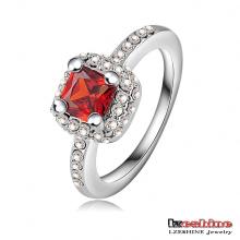 3 cores quadrados forma zircão anéis de casamento (ri-hq0065)