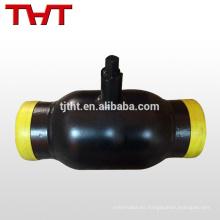 Válvula de bola de ventilación totalmente soldada para calentar