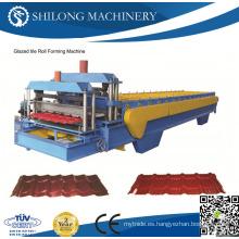 CE Aprobado Prepintado galvanizado corrugado Metal Roof Panel Tile Roll formando máquinas