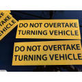Etiqueta engomada reflexiva del coche a bordo del coche del imán de encargo