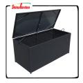 Caja de almacenamiento del amortiguador de mimbre para el jardín del patio de los muebles