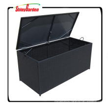 Wicker Cushion Storage Box For Furniture Patio Garden