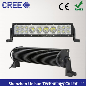 12 V impermeable 13,5 pulgadas 76 W CREE Combo barra de luz LED
