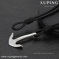 Halskette-00265 XP Mode Edelstahl Schmuck Leder einfaches Design Anker Halskette für Männer