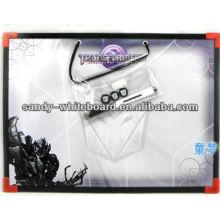 Tableau magnétique blanc avec cadre en plastique