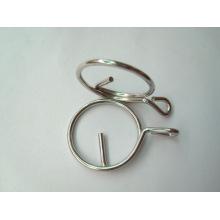 Porte-clés en métal rond en alliage de zinc de haute qualité