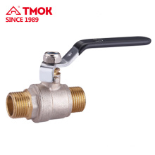 New black handle External thread Nickel plating brass ball valve