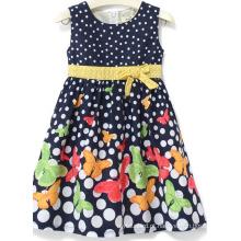 Vestido da menina da forma da flor da forma na roupa das crianças Sqd-148