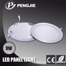 Panneau d'affichage blanc de 9W LED pour la maison avec du CE (PJ4026)