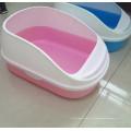 Caja de arena duradera de plástico para gatos