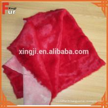 La Chine Usine teint la fourrure de lapin de couleur rouge