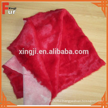 China Factory Dyed Red Color Rabbit Fur