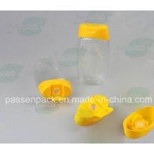 500g pet espremer mel garrafa com tampão de válvula de silicone (PPC-PSVC-013)