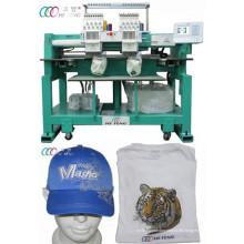 Baseball / Hut 12 Nadeln Doppel Kopf Tubular Stickerei Maschine