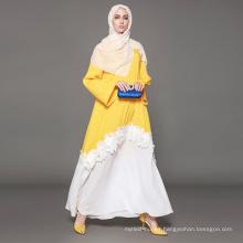 Propietario diseñador marca OEM fabricante de la etiqueta de las mujeres ropa islámica personalizada dubai disfraces abaya