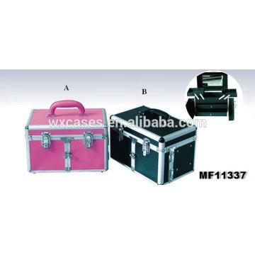 ¡Mejor calidad! Caja de herramienta aluminio profesional peluquero con 2 cajones y 2 bandejas interior