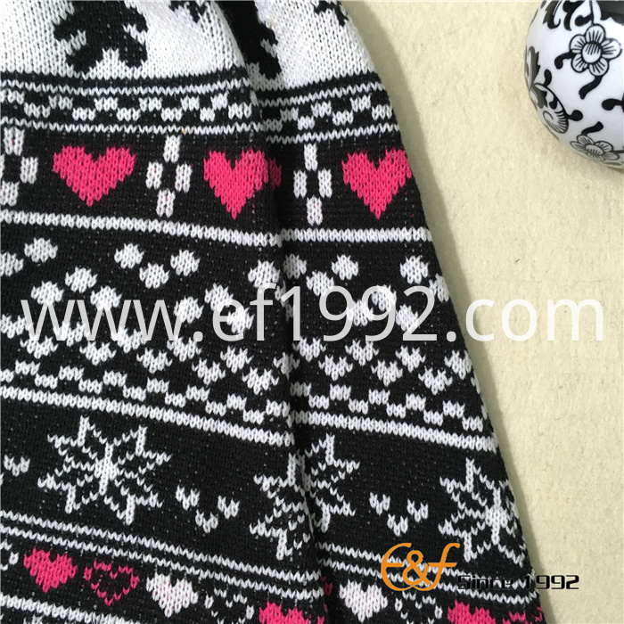 children jacquard knitted poncho