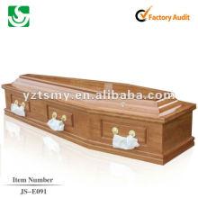 жажда психического ручки кремации гроб JS-E091