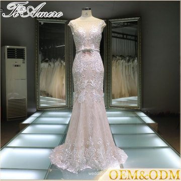 new design women long prom dress with detachable train sexy prom dresses 2017