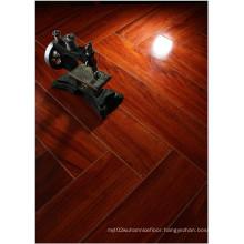 12.3mm HDF Mirror Maple Sound Absorbing Laminate Floor