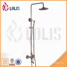Fornecedores da China antique bronze rainfall single handle tub mixer chuva chuveiro conjunto
