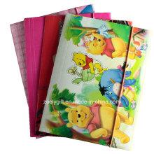 A4 Index Divider Twin Pocket Paper File Folders pour Ringbinder