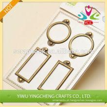 suporte de metal retangular e circular do suporte do rótulo